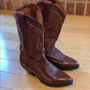 Dan Post Cowgirl Western Boots. 6.5 Brown Leather